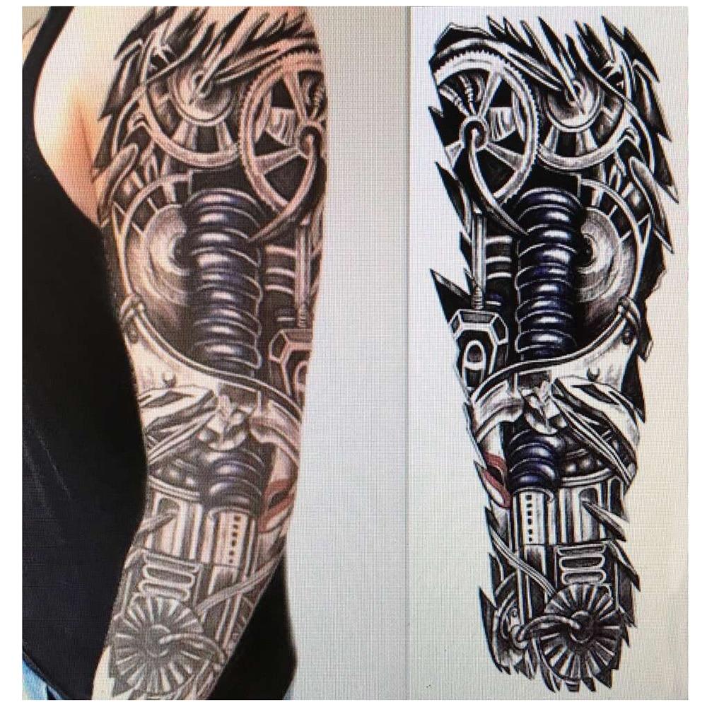 3D 48*17cm Tattoo Stickers Tattoo Decals Body Sticker Men Polynesian Body Art Women Sexy Beautiful Temporary hoodie