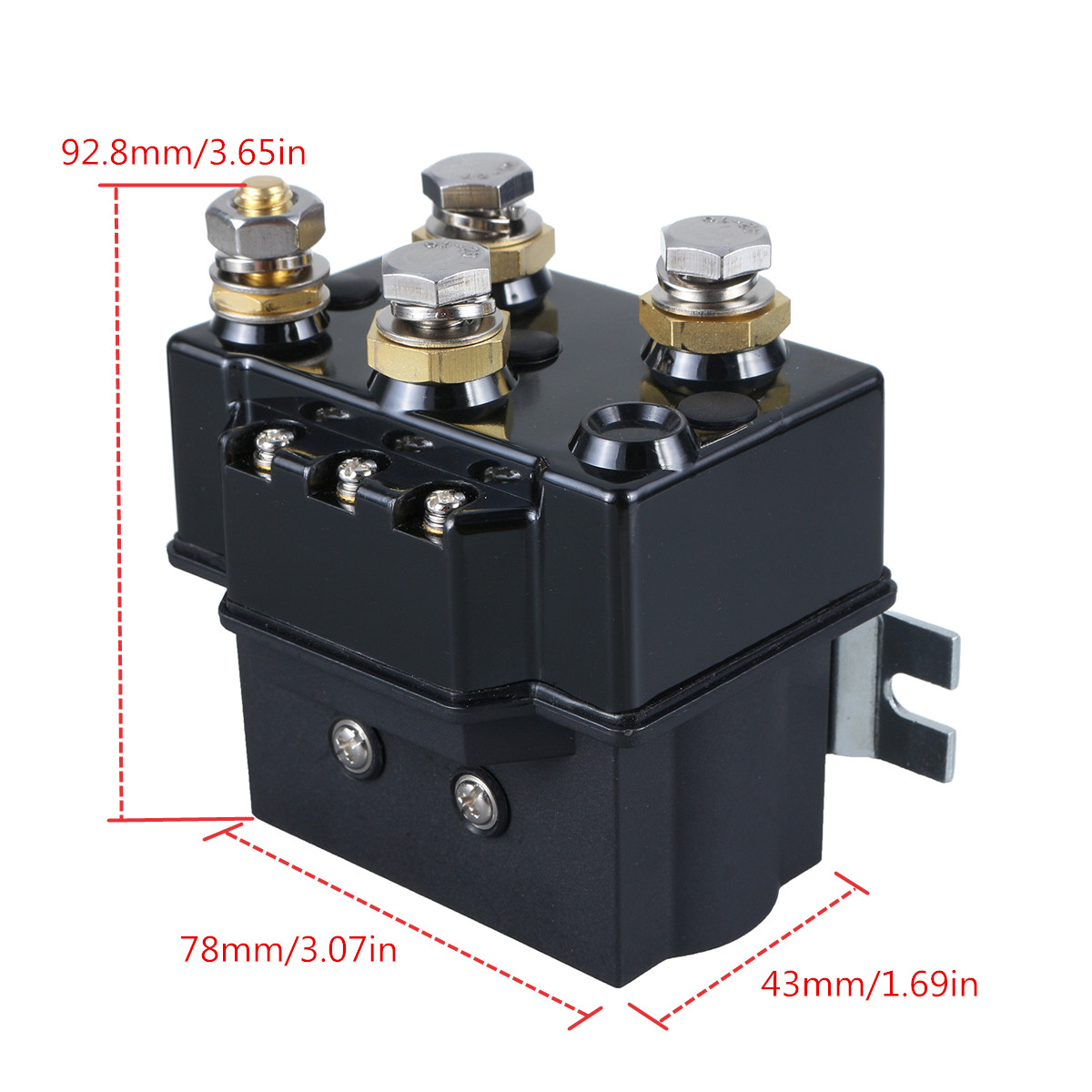 500A Winch Relay Switch Reversing Contactor Solenoid 1500lb Recovery 4x4 Truck