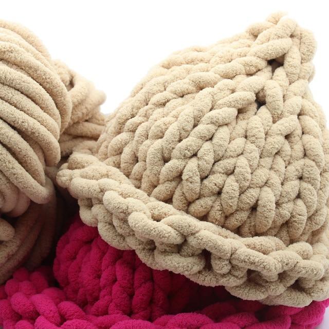 Tienda Online Caliente chenille lana chunky Hilado para la mano de ...