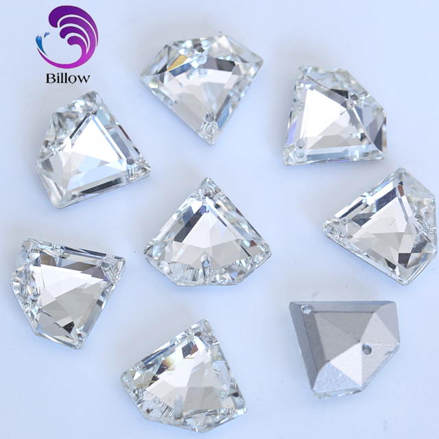 Diamond Shape Glass Crystal Sew On Rhinestones Clear Pointback Sew on  Crystal Glass Sewing Stones For 95b2920aeead