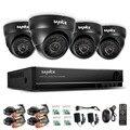 SANNCE 8CH CCTV System 960H DVR 4PCS 800TVL IR Weatherproof Outdoor Dome CCTV Camera Home Security System Video Surveillance