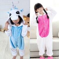 Unicorn Onesie Overalls Jumpsuit Kids Pijama Children Animal Cosplay Costume Kigurumi Onesie Blanket Sleepers Pajamas Boys