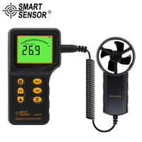 SMART SENSOR Multifunctional Digital Anemometer Handheld Air Flow Meter Wind Speed gauge diagnostic tool Thermometer Tester