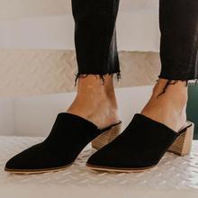 купить Summer Mules Women Sandals Slippers Slip On Pointed Toe Women Mules Outdoor Sandals Shoes Ladies Slides Sandalias Mujer P25 по цене 1195.19 рублей