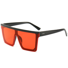 Male Flat Top Sunglasses Men Brand Black