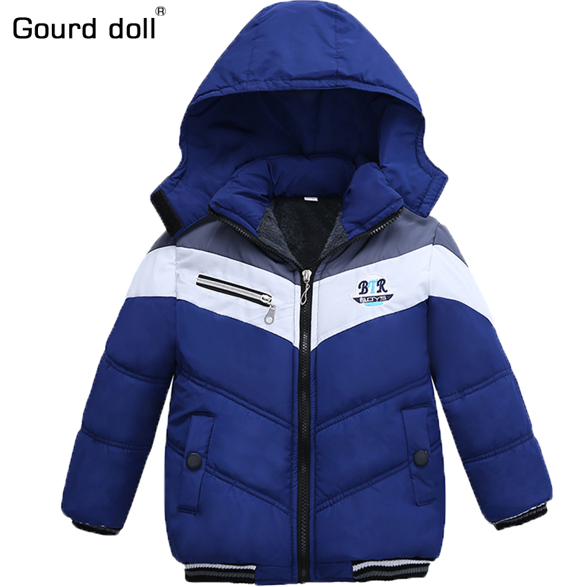 Children Boy Winter outerwear & coats Hoodie Kids Jacket Pouch Casual Warm Coat Winter Cartoon Baby Children's Wear 2-5years