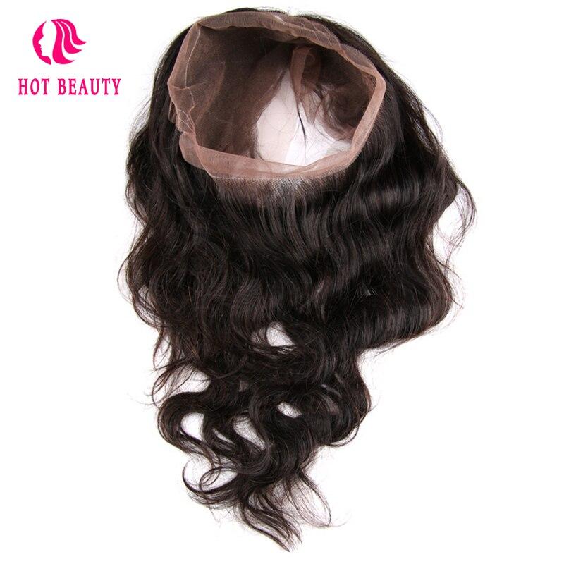 Горячие Красота волос перуанской тело волна волос 360 Кружева Фронтальная предварительно сорвал волосяного покрова бесплатная часть 100% чел...