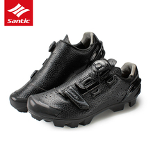 Santic Cycling Shoes MTB Men 2017 Self-Locking Bike Mountain Shoes Athletic Pro Bicycle Shoes Sneakers Zapatillas Ciclismo Black