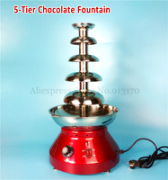 Chocolate Fondue Fountain Party Hotel Commercial Use Grade 5 Tiers Kitchen Appliance 230W
