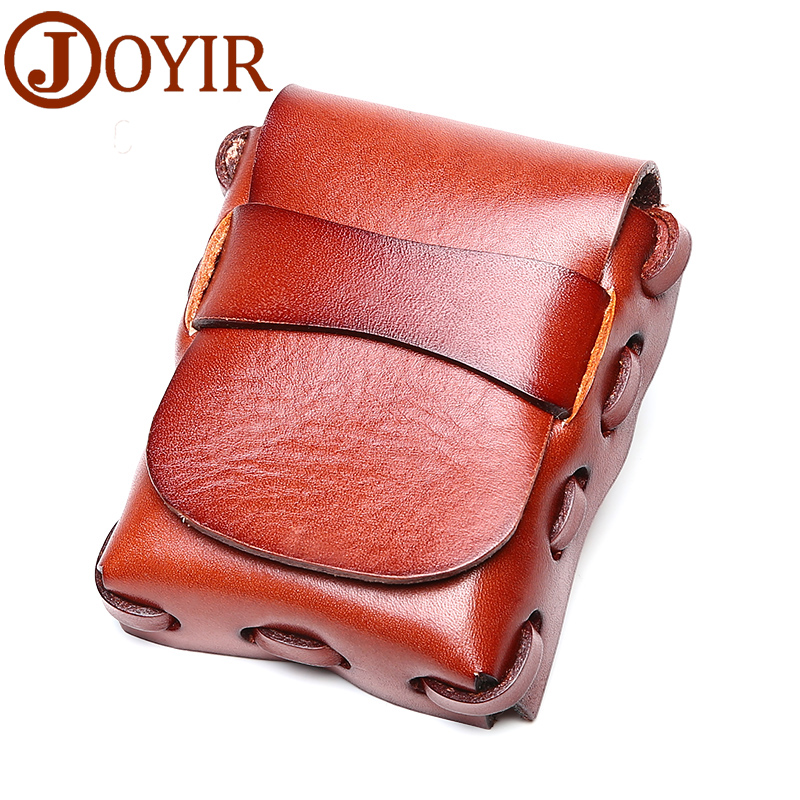 JOYIR Genuine Leather Men Durable Vegetable Tanned Leather <font><b>Cigarette</b></font> Smoking <font><b>Case</b></font> <font><b>Cigarette</b></font> Wallet Small Purse for Man Bag K010