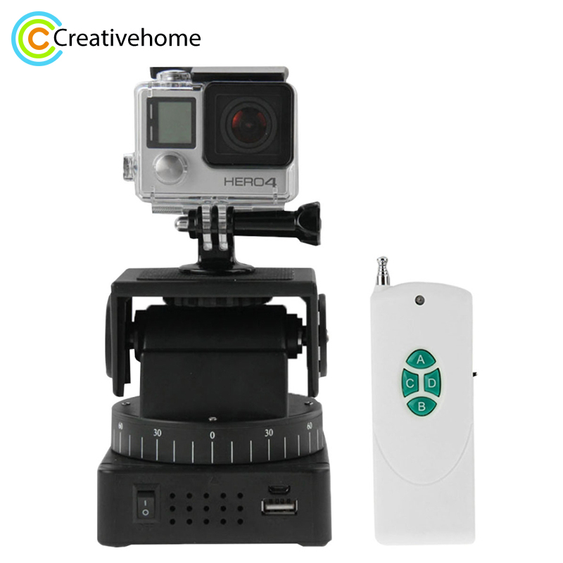 YT-260 1/4'' Screw Remote Control Motorized Pan Tilt for Gopro HD Xiaomi yi DLSR Action Cameras Accessories Universal zifon yt 500 remote control pan tilt auto motorized rotating video tripod head stabilizer for smartphone