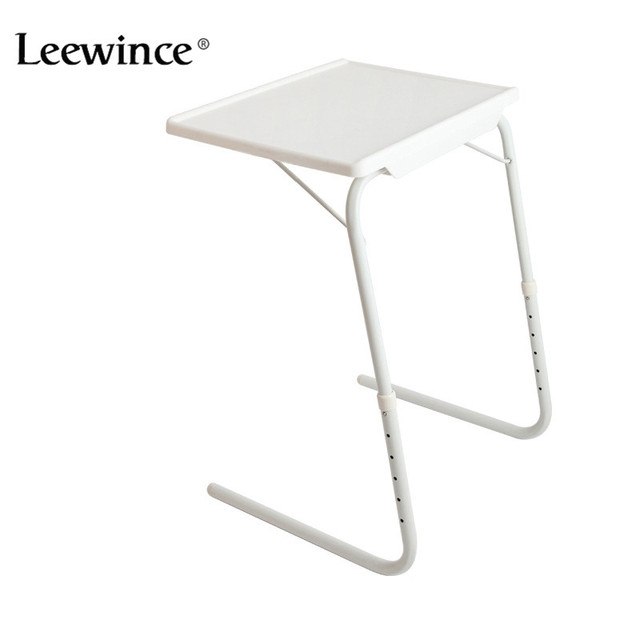 Gentil Leewince Computer Desks Portable Adjustable Laptop Desk Easy Comforts  Adjustable Tray The Ultimate Portable Folding Table White