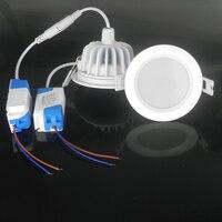4 unids/lote alta calidad impermeable llevó el downlight IP65 7 W / 9 W / 12 W / 15 W LED abajo iluminación para del corredor / pasillo / baño
