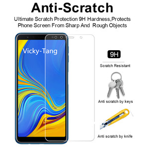 Image 4 - Tempered Glass for Samsung Galaxy A7 2018 A750 Screen Protector 9H 2.5D Phone Protective Glass for Samsung Galaxy A7 2018 Glass