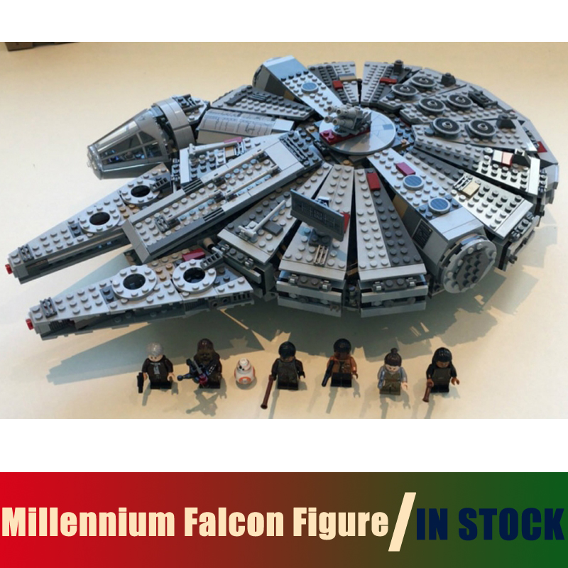 Compatible with lego Star Wars Millennium Falcon Figure Toys Model building blocks kits marvel Kids Toy star wars 7 darth vader millennium falcon figure toys building blocks set marvel kits rey bb 8 compatible toy gift many types