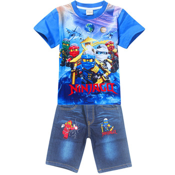 14c15a7bb 4-9Years Old Ninjago Children Kids Clothing Sets Summer Cotton Boys—Free  Shipping