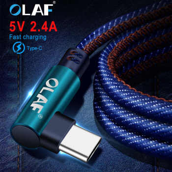 OLAF 2M Fast charging USB Type C Cable for Huawei P20 Lite Pro Fast Charge Usb C Type C Data Cable cord for Samsung S8 S9 plus