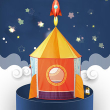 Outdoor and Indoor Playhouse Tent Rocketship Space Kids Play safe play for Boy  of all ages