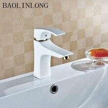 Baking Finish Brass Deck Mount Basin Faucets Vanity Vessel Sinks Bathroom Mixer bath Faucet Tap