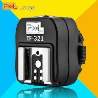 Pixel TF-321 Adaptador Convertidor TTL Flash Zapata Zapata Para Canon 580EX 550EX 600D 700D 70D 60D 6D 550D 5D Cámara y del flashgun