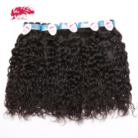 Ali Queen Hair Wholesale 10Pcs Lot Peruvian Water Wave Human Hair Weave Bundles Virgin Hair Extensions Natural Color