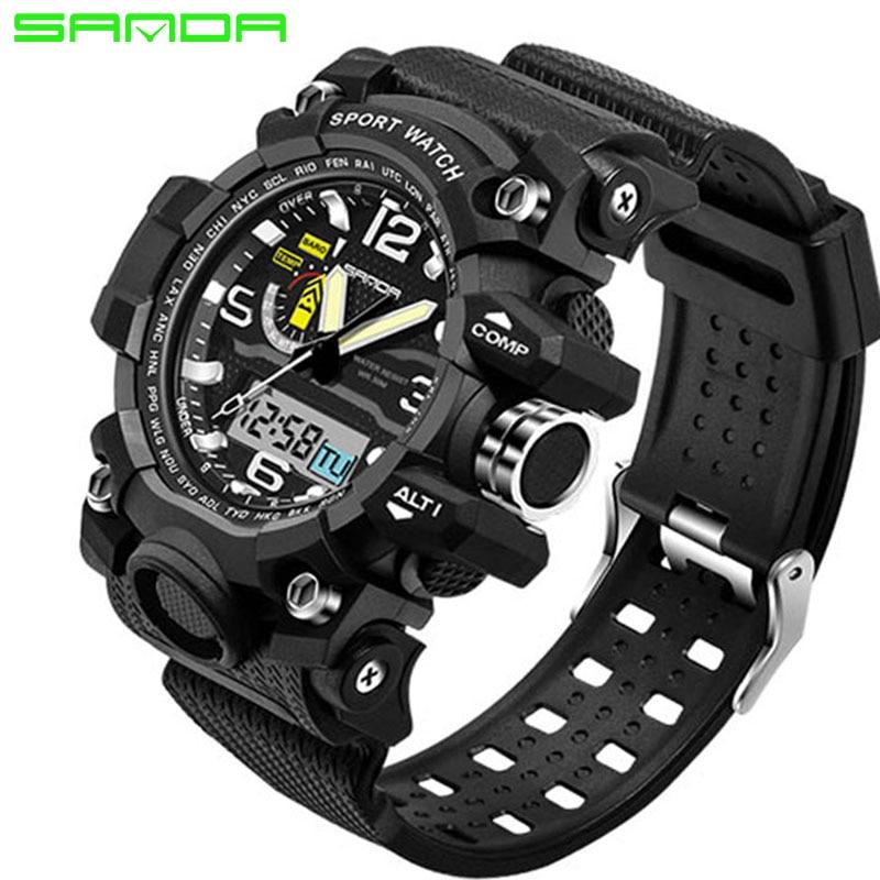 Fashion Waterproof Mens Sports Watches Relogio Masculino 2017 Men Silicone Sport Watch Shockproof Electronic Wristwatch цена и фото