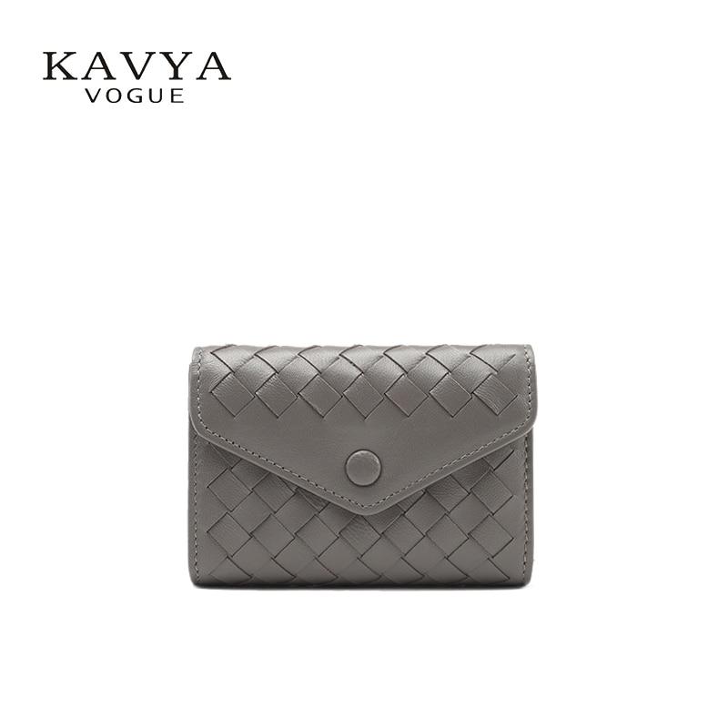 KAVYAVOGUE New Designer Genuine Leather Sheepskin Bag Men and Womens Card Holder Bank Case Wallet Organizer