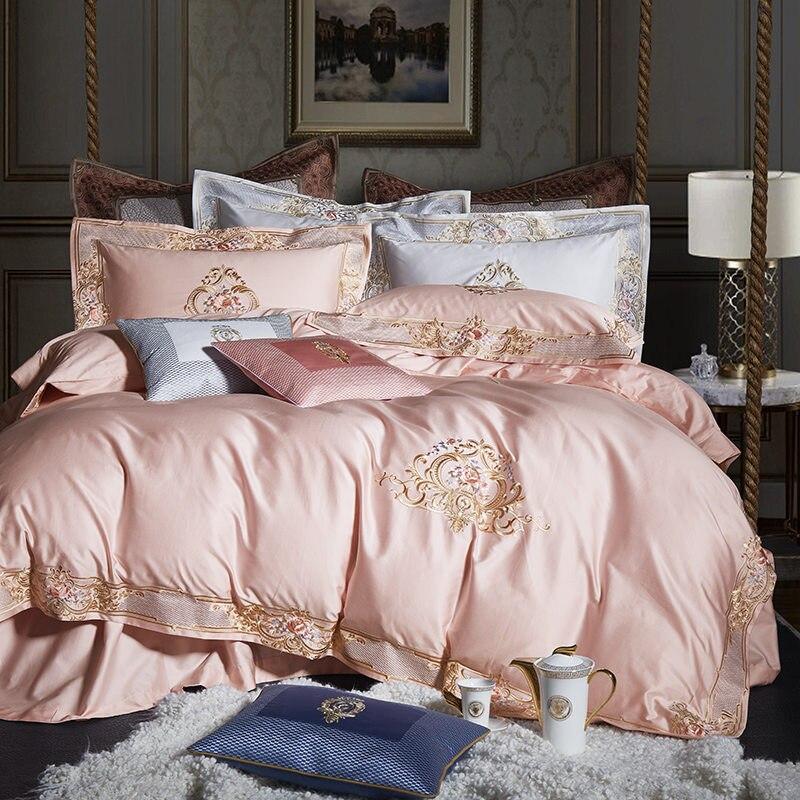1000tc ägyptischer Baumwolle Königlichen Luxus Bettwäsche Set Weiß