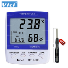 Promo offer VICHY CTH-608 Digital thermometer High accuracy LCD Digital Thermometer Hygrometer Indoor Electronic Temperature Humidity Meter