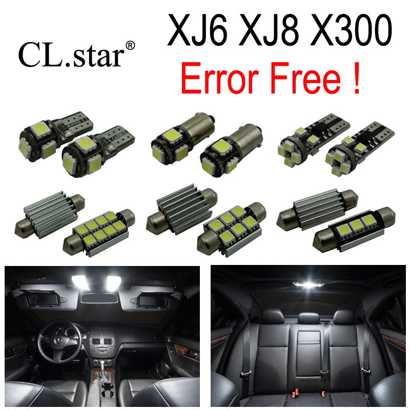 18pc X 100% No Error LED Interior Dome Reading Light Kit Package For 1995 1996 1997 Jaguar XJ XJ6 XJR ( X300 ) 18pc canbus error free reading led bulb interior dome light kit package for audi a7 s7 rs7 sportback 2012