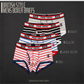 2016 Brand New Sexy Underwear for Men Classic Striped Soft Cotton Breathable Underpants Mens Underwear Boxers Shorts Wholesale
