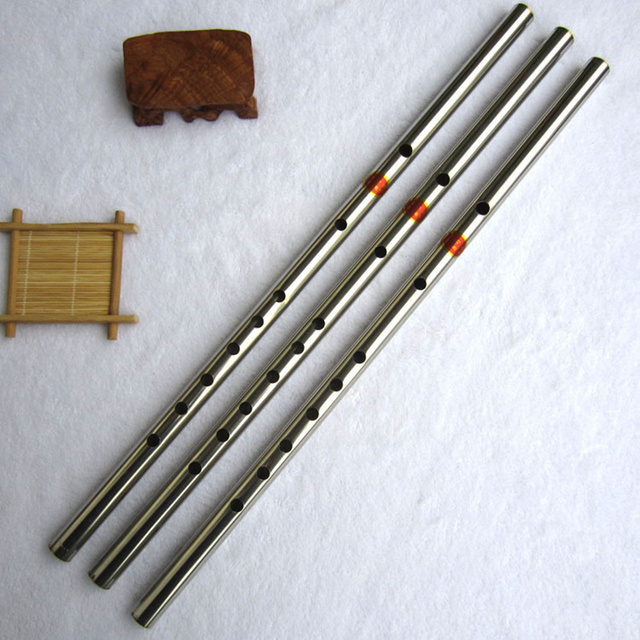 Stainless Steel Flute Traditional Musical Instrument Chinese Dizi as bamboo flute In F Key transversal Flauta For Beginners