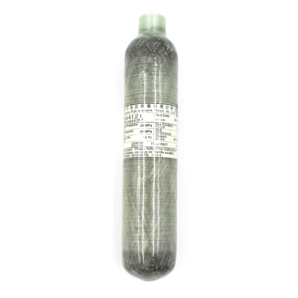 PCP Paintball Airsoft Tank High Pressure Cylinder 0.35L/0.5L Carbon Fiber Wrapped 30MPA 4500 PSI M18*1.5 Thread TKC001 pcp paintball airsoft tank high pressure cylinder 0 35l carbon fiber wrapped 30mpa 4500 psi m18 1 5 thread tkc002