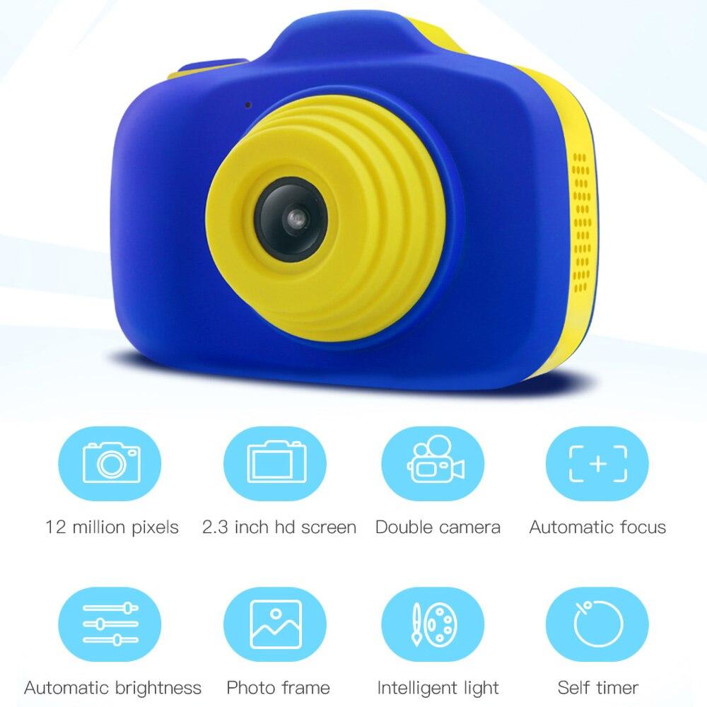X-903 enfant en bas âge Mini caméra numérique enfants Double lentille HD Photo vidéo garçon et fille bande dessinée caméra enfants jouets cadeau éducatif