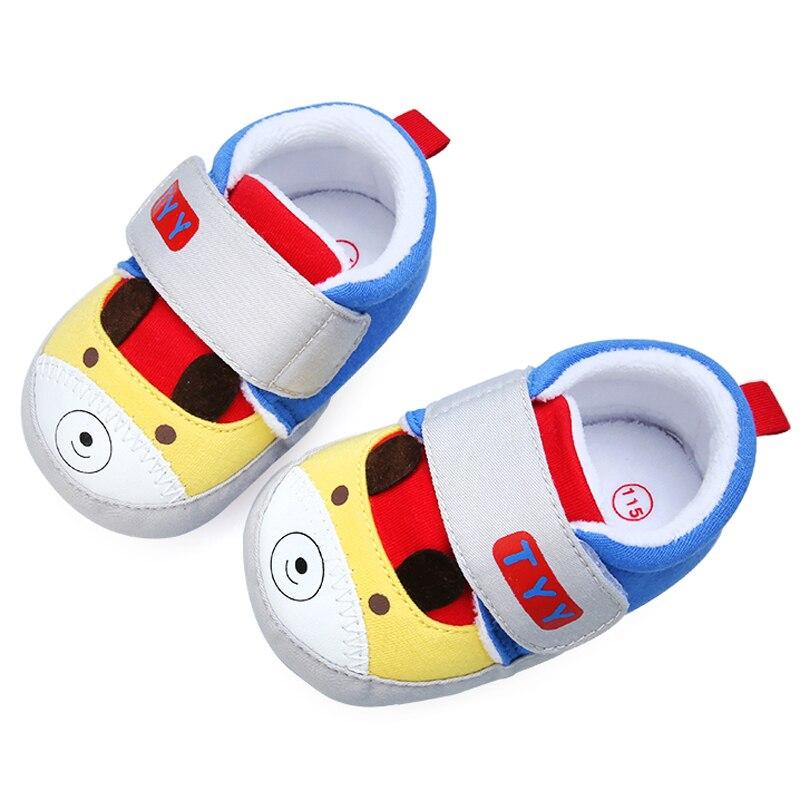 Новое поступление хлопок Лоскутная Медведь Pattern жесткой подошвой для маленьких девочек и для маленьких мальчиков Обувь для 0-15 месяцев ...