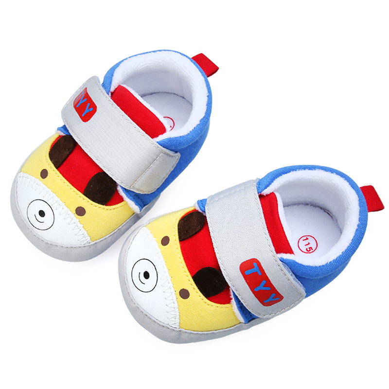 New Arrival Cotton Patchwork Bear Pattern Hard Sole Baby Girl and Boy Toddler Shoes For 0-15 Months ...