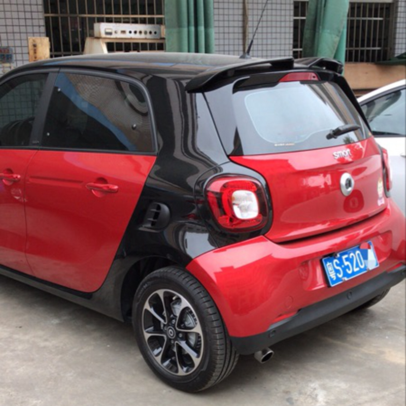 Spoiler For Merced-Benz Smart Fortwo 453 Spoiler ABS Plastic Unpainted Primer Color Rear Trunk Boot Wing Spoiler Car Accessories pu rear wing spoiler for audi 2010 2011 2012 auto car boot lip wing spoiler unpainted grey primer