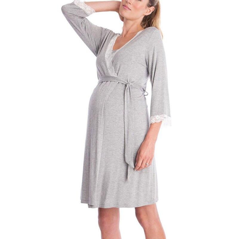 Allaitement Pyjamas de Nuit Robe De Maternité Vêtements D'allaitement Pour Les Femmes Enceintes Grossesse D'alimentation Robes De Nuit Robes