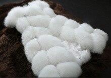SC300 S-4XL Autumn Winter Coat 2019 Fashion Casual Warm Slim Sleeveless Faux Fox Fur Vest Jacket Women casaco feminino