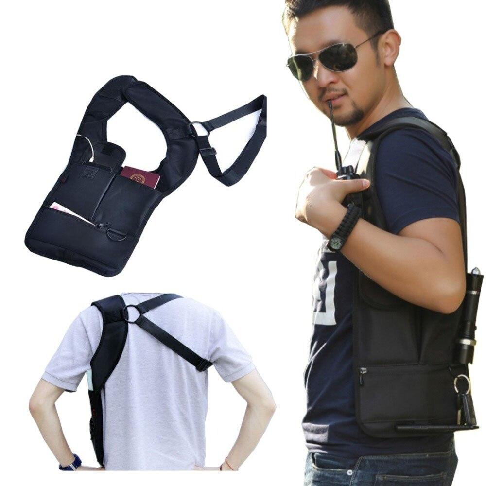 Nylon Multi-purpose Hidden Underarm Holster Shoulder Bag Outdoor Sport Storage Bag For Passport coin key pen phone pad