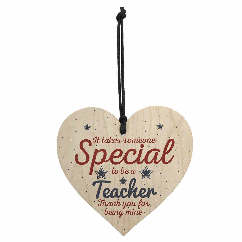 Handmade Hanging Heart Gift For Teacher Leaving Present Thank You Gifts 10x10cm