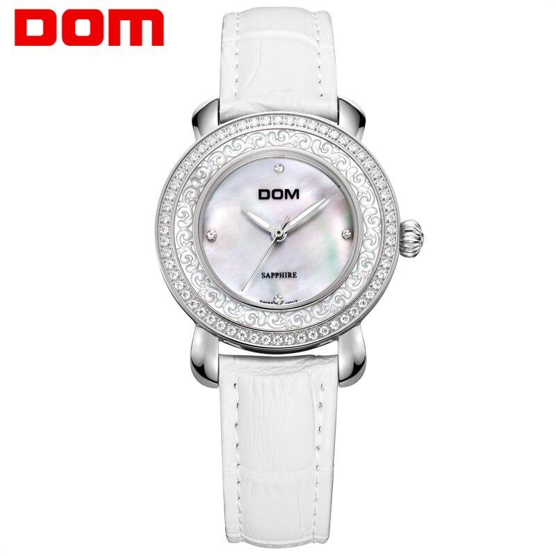 Woman Watch DOM luxury brand ladies watches waterproof fashion style sapphire crystal woman quartz nurse watch women G-86GL-7M dom women luxury brand watches waterproof style quartz ceramic nurse watch reloj hombre marca de lujo t 558