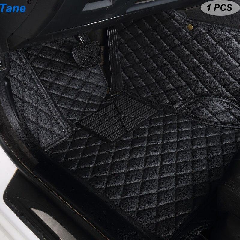 Tane Leather Car Floor Mats For Kia Rio Morning Stinger Niro Cerato Mohave Sorento Stonic Soul Sportage Accessories Carpet Rug