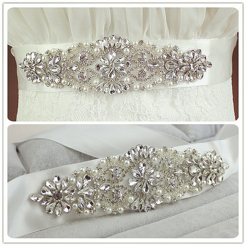 Doragrace Womens Fashion Wedding Sash Belt Crystal Rhinestone Bridal Belts