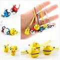 Pokemons Pikachu Chaveiro Pendurado Pequenos Acessórios Sinos Pendurados Decoração Figuras Brinquedos