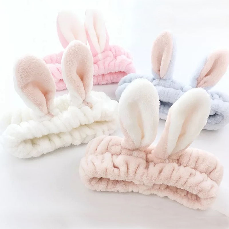 Rabbit Ears Hair Band Headband Makeup Place Mask Wide Brimmed Hair Accessories Hairband Scrunchie Accesorios Para El Cabello