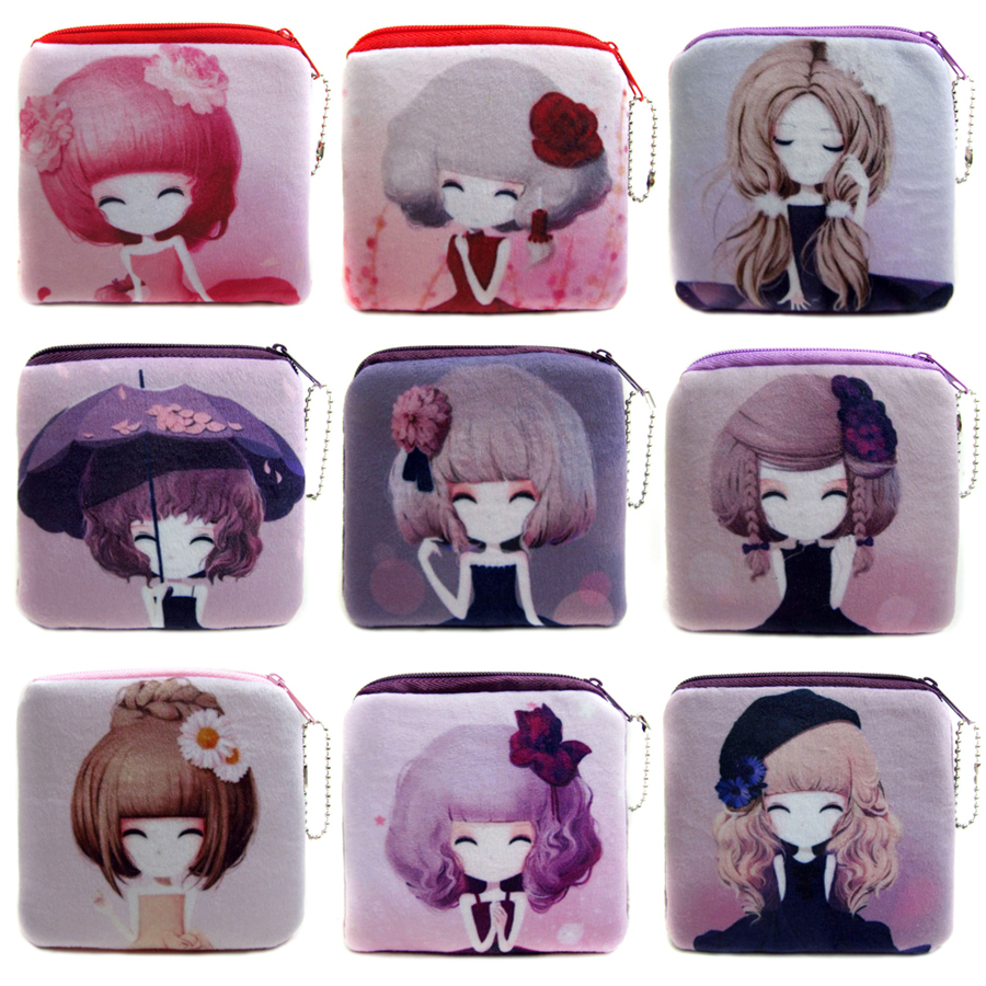 2017 Promotion Cute Girl Mini Coin Bags Women Money Pouch Wallets Female Storage Packet Kids Coin Purses