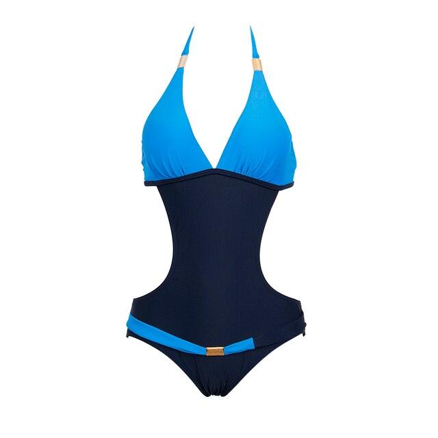 ba3e1ae5b3 UK Womens One Piece Zipper Swimwear Bikini Push Up Bandage Monokini Padded  Suit