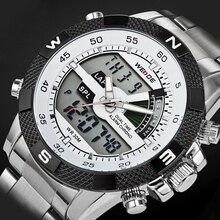 2016 WEIDE Marca de Lujo de Los Hombres Del Ejército Militar Reloj de Cuarzo de Los Hombres hora Digital LED Reloj de Pulsera de Acero Completo Reloj de Los Hombres Deportes relojes(China (Mainland))