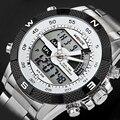 2016 Marca de Luxo WEIDE Homens Do Exército Militar Relógio de Quartzo dos homens hora Digital LED Relógio de Pulso de Aço Completo Relógio Dos Homens Dos Esportes relógios